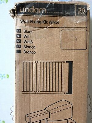 Lindam WALL FIXING KIT WHITE Baby/Toddler/Child Home Security Childproof BN