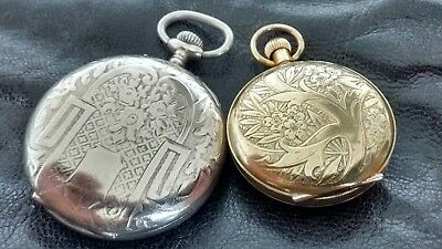 Ornate Antique/Vintage Pocket Watch And Fob