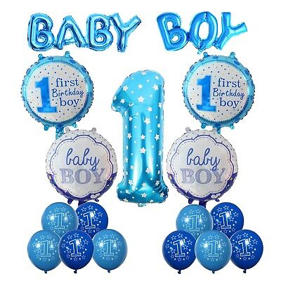 Happy Birthday Baby Boy Jungen 1 Helium Folie Ballons Geburtstag Dekoration