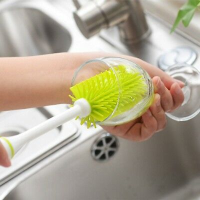 Long Handle Glass Bottle Cleaning Brush Soft Nano TPR Cup Brush Household C O9M7