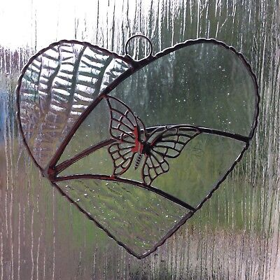 Stained Glass Arched Heart Suncatcher