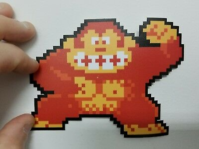 Donkey Kong ape contour  sticker. 4 x 5.5. Buy any 3 stickers, GET ONE FREE!