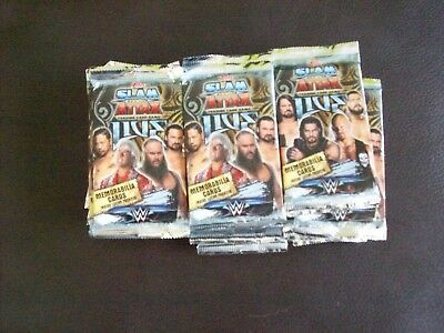 33 x Sealed Packs Of Topps Slam Attax Live Trading Cards