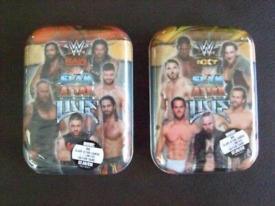 2 X Topps WWE Slam Attax Live Trading Cards Mini Tins 44 + 1 Limited Edition