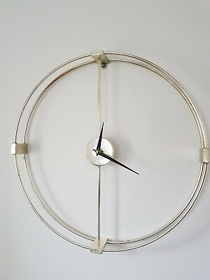 20 inch Silver Ring Wall Clock