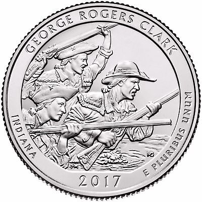 2017 D  Brilliant Uncirculated George Rogers Clark America The Beautiful Indiana