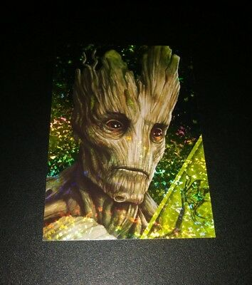 Groot Refractor #148 Card Karte Panini 2017 Marvel Guardians Of The Galaxy