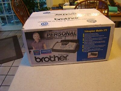 Brother FAX-575 Personal Fax Phone and Copier BRAND NEW!! SEALED BOX FAST SHIP
