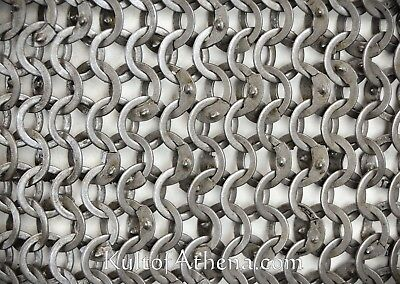 Chain Mail Sheet -9 mm 18 Gauge Flat Ring Alt solid Ring Wedge-Riveted
