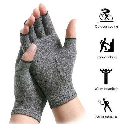 Arthritis Gloves Compression Joint Finger Pain Relief Hand Wrist Support MG