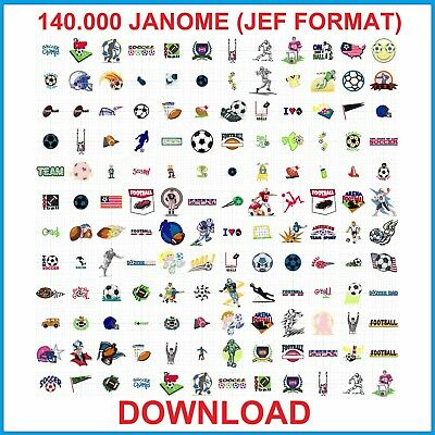 140.000 Janome (Jef Format) Embroidery Designs Download
