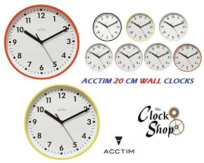 Acctim Wickford Wall Clock 20cm Kitchen Living Room Hall Round Face Quartz Boxed