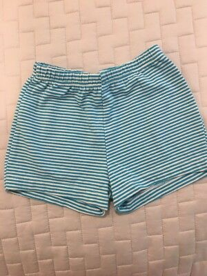 Papo d'Anjo Girl Blue Striped Shorts Size 4 And Tank Size 4 (2 PIECES)