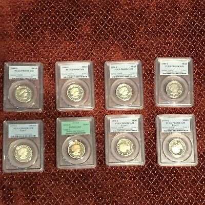 Lot Of 8 Susan B Anthony Silver Proofs PCGS PR69DCAM