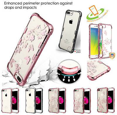 For LG Stylo 4 Clear Bling Hybrid Shockproof Rubber Silicone TPU Case Thin Cover