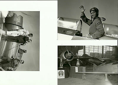 Set Of 3 - Lot #109 10Th Thompson Trophy Race B&w Photographs - Racing Airplanes