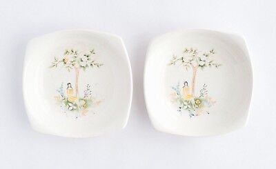 Pair Vintage Plate Pin Dish Beswick Plate Collectables Trinkets Art Deco