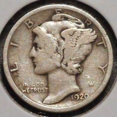 Silver Mercury Dime - 1920 - Early Dates! - $1 Unlimited Shipping