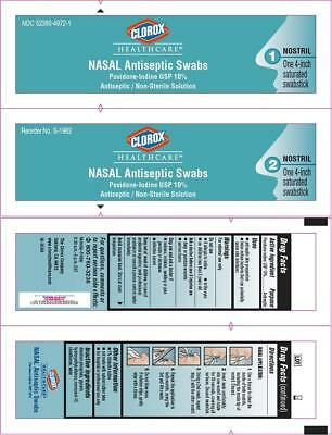 Clorox Nasal Antiseptic Swabs for Nostrils, 2ctX2ct 352380497216A1088