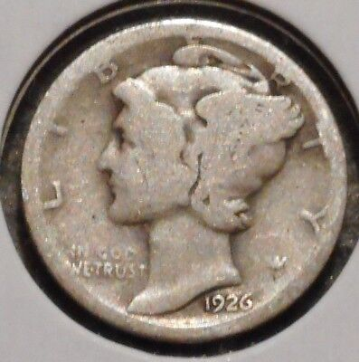 Silver Mercury Dime - 1926-D - Early Dates! - $1 Unlimited Shipping