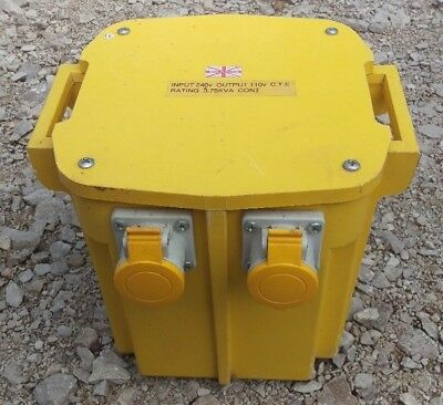 110V 3.75KVA CTE Site Transformer 230V Continuously Rated Lighting Heating 2x16A