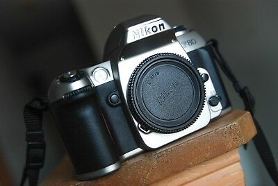 Nikon F80 N80 camera body with new batteries