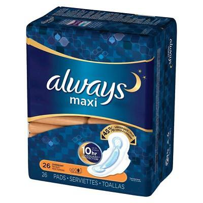 Always Maxi Overnight Pads, Large Back, 156ct 037000890287A3060