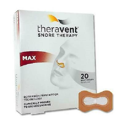Theravent Snore Therapy Strips, Maximum, 20ct 858076006019A1300