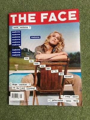 The Face Madonna Ray Winstone Vol 3 Number 43 Aug 2000