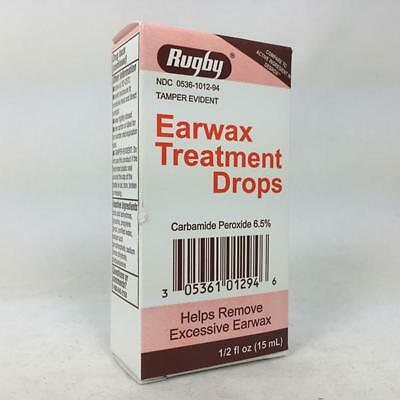 Rugby Earwax Treatment Drops, Remove Earwax, 15mL 305361012946T161