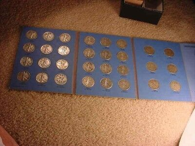 1937 To 1947 Complete Set Of 90% Silver Walking Liberty Half Dollars!!!  #300