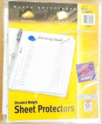AVERY Standard Weight Sheet Protectors, Pack of 50 Reinforced Acid Free (74305)