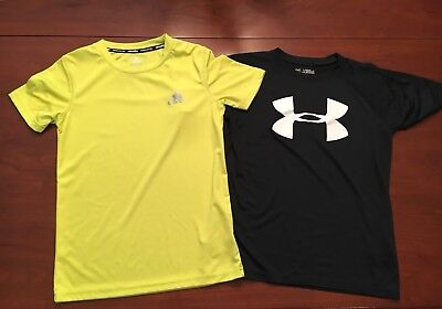 Lot Of 2 Boys Shirts Size Small Under Armour Adidas