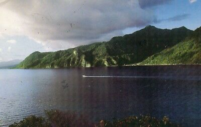 WEST COAST FROM THE OCEAN  DOMINICA  postally used - nice stamp