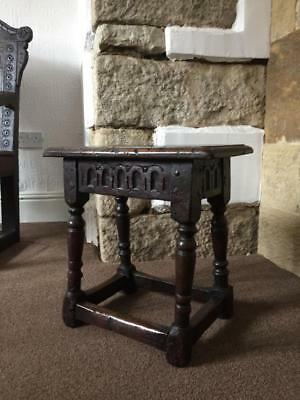 An Early Oak Joint Stool
