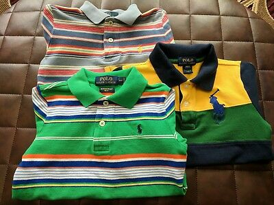 Polo boys shirts 4t LOT three polo shirts short sleeve