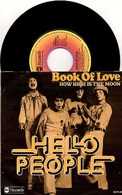 Hello People - Book Of Love / How High Is The Moon - 7'' Vinyl