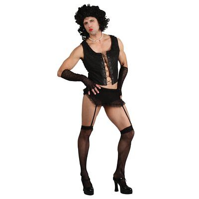 Funny Rock Guy with Wig (M) Fancy Dress Stag Costume (u0t)