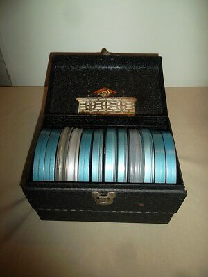 VINTAGE HOME MOVIES 8MM FILM REELS 1940s LOT OF 12  with case