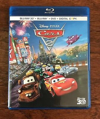 Cars 2 Blu-ray 3D/Blu-ray/DVD set - Disney/Pixar Movie in Perfect Condition