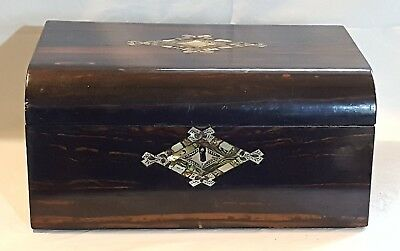 Coromandel wood vintage Victorian antique ladies writing slope box