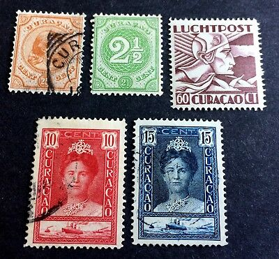 5 wonderful old stamps Curaçao