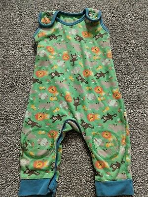 Frugi 6-12 Jungle Dungarees