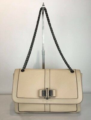 2d285a9bad0 CHRISTIAN LOUBOUTIN TRILOUBI Chain Bag Spiked Leather Small ...