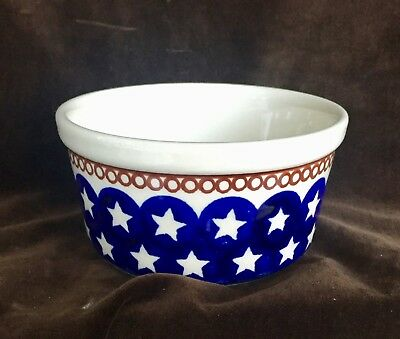 Polish Pottery Small Circles & Stars Bowl with straight sides Boleslawiec