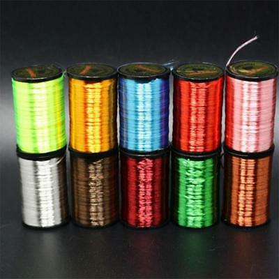 1 Roll Neon Thread Fly Fishing Line Bait Decoration Flies Floss Yarn 10 Colors