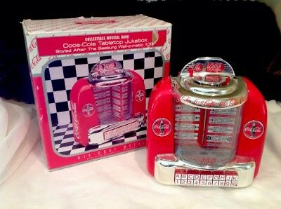 1996 Collectible Diecast Coca-Cola Musical Jukebox/Bank