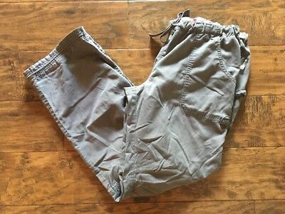 Koi by Kathy Peterson scrub bottoms, gray, size L TALL