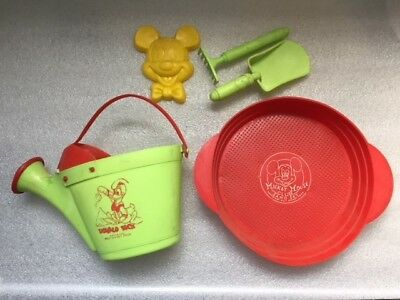 Vintage 1950's Disney Sand Set Pail and Tools