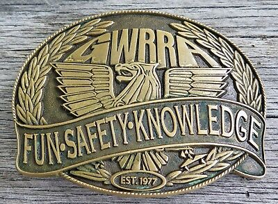 GWRRA Honda Gold Wing Motorcycle Thunderbird Vintage Belt Buckle